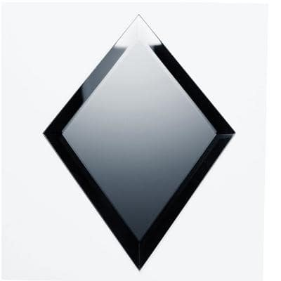 Reflections Frosted Blue Beveled Diamond 6 in. x 8 in. Matte Glass Mirror Wall Tile (1 Sq. Ft.)