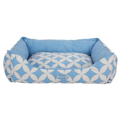 Florence Medium Blue Box Bed