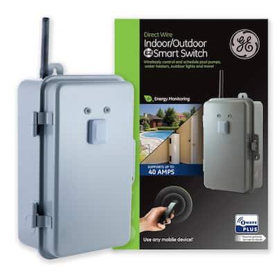 Z-Wave Plus Direct Wire Indoor/Outdoor 40 Amp Lighting Control Smart Switch