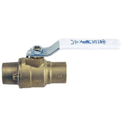 3/4 in. x 3/4 in. Forged Brass Sweat x Sweat Full Port Solder Ball Valve