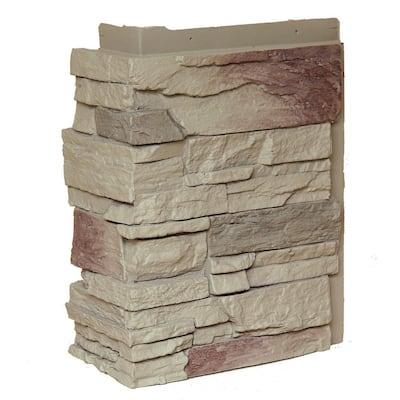 Country Ledgestone Teton Buff 10.25 in. x 3.5 in. Faux Stone Outside Corner (4-Pack)