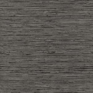 Grasscloth Grey Vinyl Peel and Stick Wallpaper Roll (Covers 28.18 sq. ft.)