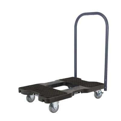 1500 lbs. Capacity Industrial Strength Professional E-Track Push Cart Dolly in Black