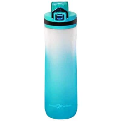 22 oz. Frosted Blue Plastic Tritan Hydration Bottle (6-Pack)
