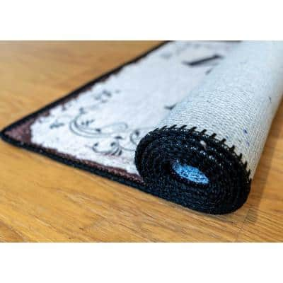 Laundry Room Collection Black 2 ft. x 5 ft. Laundry Room Runner Rug