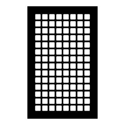 Square Series 14 in. x 8 in. Steel Grille, Black without Mounting Holes