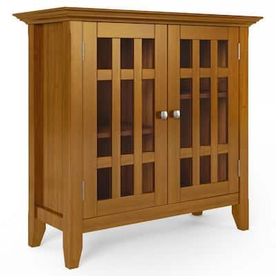 Bedford Light Golden Brown Low Storage Accent Cabinet