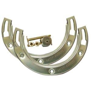8-1/2 in. Width x 3/4 in. Height Stainless Steel Moss Bay Repair Flange for Closet Applications