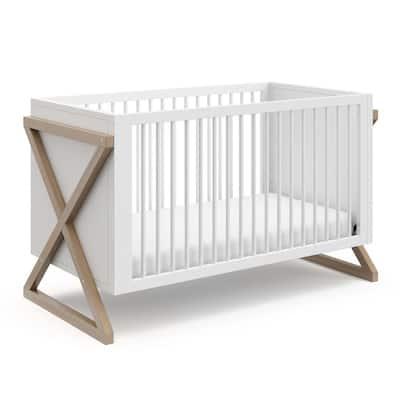 Equinox Vintage Driftwood 3 in-1-Convertible Crib