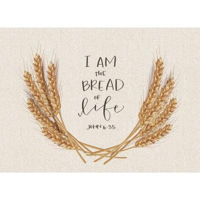 Bread of Life 18 in. x 13 in. Multi Polypropylene Placemats (Set of 4)