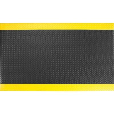 """Soft Foot 1/2"""" Diamond DLX Black/Yellow 3 Ft. x 5 Ft. Commerial Door Mat"""