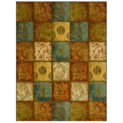 Artifact Panel Multi 10 ft. x 14 ft. Patchwork Area Rug