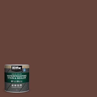 8 oz. #SC-117 Russet Solid Color Waterproofing Exterior Wood Stain and Sealer Sample
