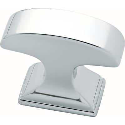 Classic Edge 1-3/8 in. (35 mm) Polished Chrome Rectangular Cabinet Knob