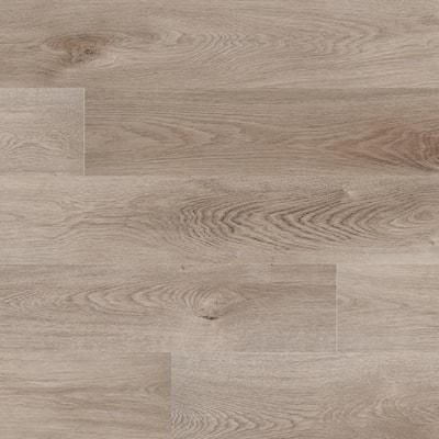 Take Home Sample - Woodland Mystic Gray Rigid Core Luxury Vinyl Plank Flooring 7 in. x 12 in.