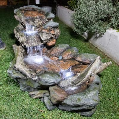 Fiberglass Fountains Outdoor Decor The Home Depot