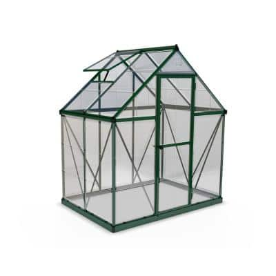 Harmony 6 ft. x 4 ft. Polycarbonate Greenhouse in Green