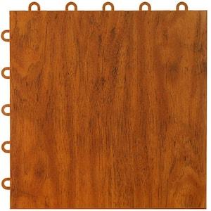 Max Tile 12 in. W x 12 in. L Cherry Waterproof Interlocking Modular Basement Vinyl Floor Tiles (20 sq. ft. 20-Pack)