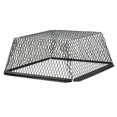 VentGuard 25 in. x 25 in. x 12 in. Stainless Steel Roof Wildlife Exclusion Screen in Black