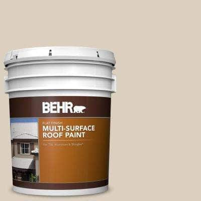 5 gal. #RP-13 Camelstone Flat Multi-Surface Exterior Roof Paint