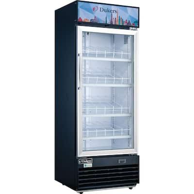 11.4 cu. ft. Commercial Single Glass Swing Door Merchandiser Refrigerator in Black
