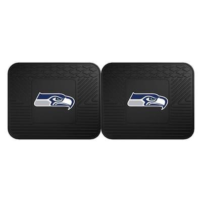 NFL Seattle Seahawks Black Heavy Duty 2-Piece 14 in. x 17 in. Vinyl Utility