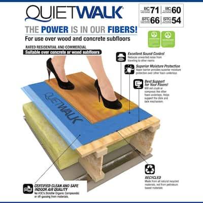 360 sq. ft. 6 ft. x 60 ft. x 3 mm Underlayment w/Sound & Moisture Barrier for Vinyl Plank, Laminate, Engineered Floor