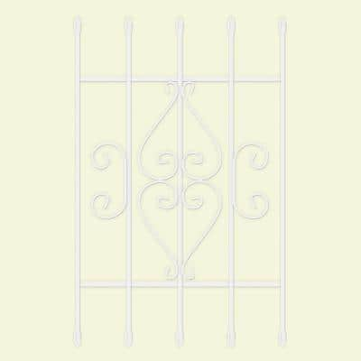 24 in. x 36 in. Su Casa White 5-Bar Window Guard