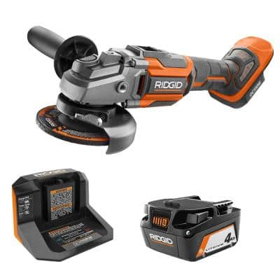 18-Volt Octane Brushless Cordless 4.5 in. Angle Grinder Kit w/Grinding Disc, Cut-Off Wheel, One 4.0 Ah Battery & Charger