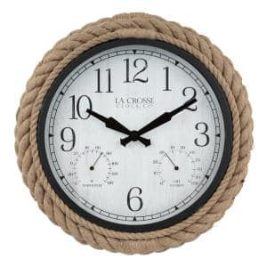 14 In. Rowan Indoor/Outdoor Rope Analog Quartz Wall Clock