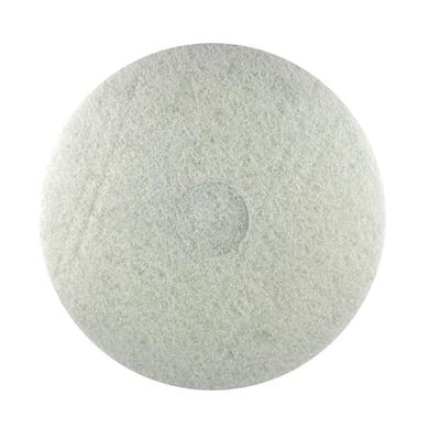 17 in. Non-Woven White Buffer Pad