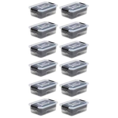 Storage Sort It 1.5 Qt. BPA Free Plastic Stacking with Insert Tray (12-Pack)