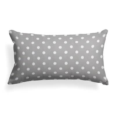 Coastal Grey Rectangular Lumbar Outdoor Pillow