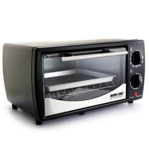 Black With Stainless Steel Front 9-Liter Toaster Oven Broiler
