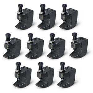 Junior Beam Clamp for 3/8 in. Threaded Rod, Uncoated Steel (10-Pack)
