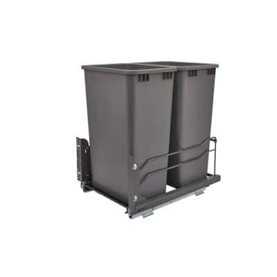 Double 50 Qt. Pull-Out Waste Container Soft-Close