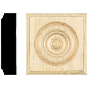 PLINTH,CORNER,Rose Mount 28mm thickness Oak 80 X 80x28MM