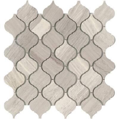 Marble Metro Cream 11.61 in. x 12.01 in. Arabesque Honed Limestone Mosaic Tile (0.97 sq. ft./Each)