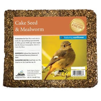 Mealworm Seed Cake with Sunflower Chips - 2 lbs. - 8-Pack