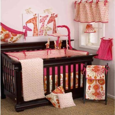 Sundance Pink and Orange Dot Cotton Fitted Crib Sheet