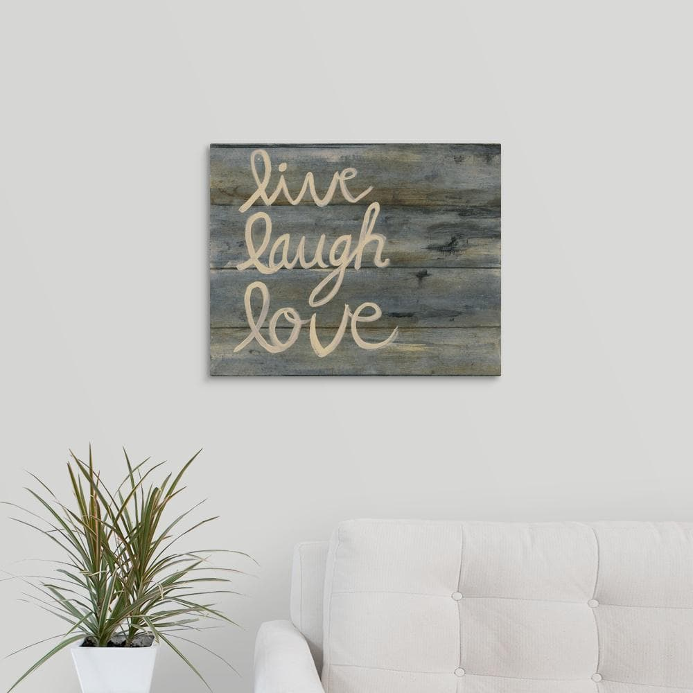 Greatbigcanvas 20 In X 16 In Live Laugh Love By Smith Haynes Canvas Wall Art 2288367 24 20x16 The Home Depot