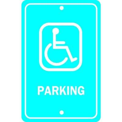 18 in. x 12 in. Aluminum Handicapped Parking Sign