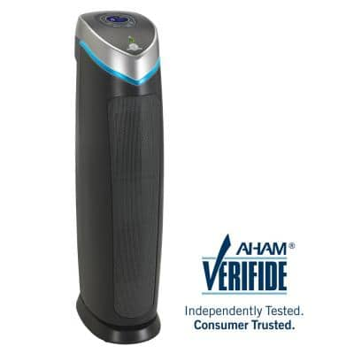 5-in-1 Pet Pure True HEPA Air Purifier System UV Sanitizer and Odor Reduction, 28 in. Digital Tower