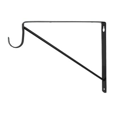 Black Heavy Duty Shelf Bracket and Rod Support
