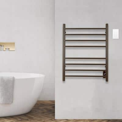 Prestige Dual 8-Bar Hardwired and Plug-in Electric Towel Warmer in Oil Rubbed Bronze with Wall Wi-Fi Timer