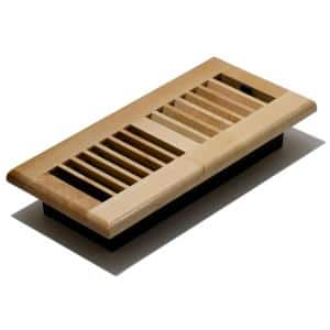 Decor Grates 4 In X 12 In Maple Floor Register Wml412 N The Home Depot