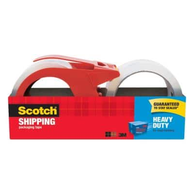 Scotch 1.88 in. x 54.6 yds. Heavy Duty Shipping Packaging Tape with Dispenser (2-Pack)