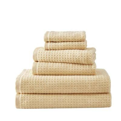 Northern Pacific 6-Piece Yellow Cotton Towel Set