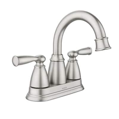 Banbury 4 in. Centerset Double Handle Bathroom Faucet in Brushed Nickel