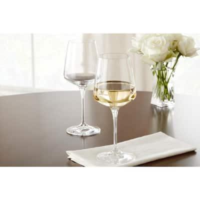 Genoa 15.5 fl. oz. Lead-Free Crystal White Wine Glasses (Set of 8)